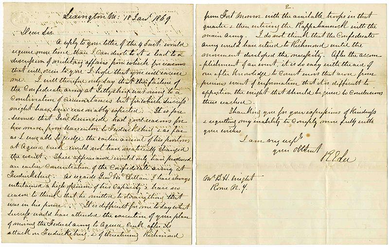 Robert E. Lee autograph Robert E. Lee Gettysburg ALS Confederate States of America Constitution