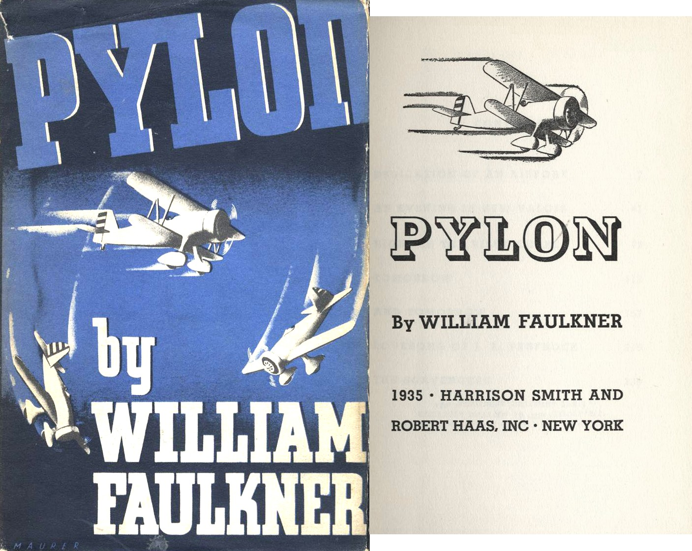 "William Faulkner first edition First edition of ""Pylon"" by William Faulkner"