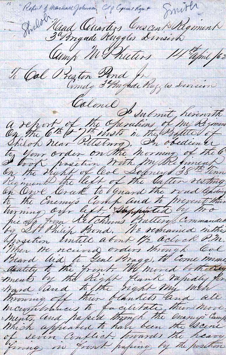 Shiloh Letter
