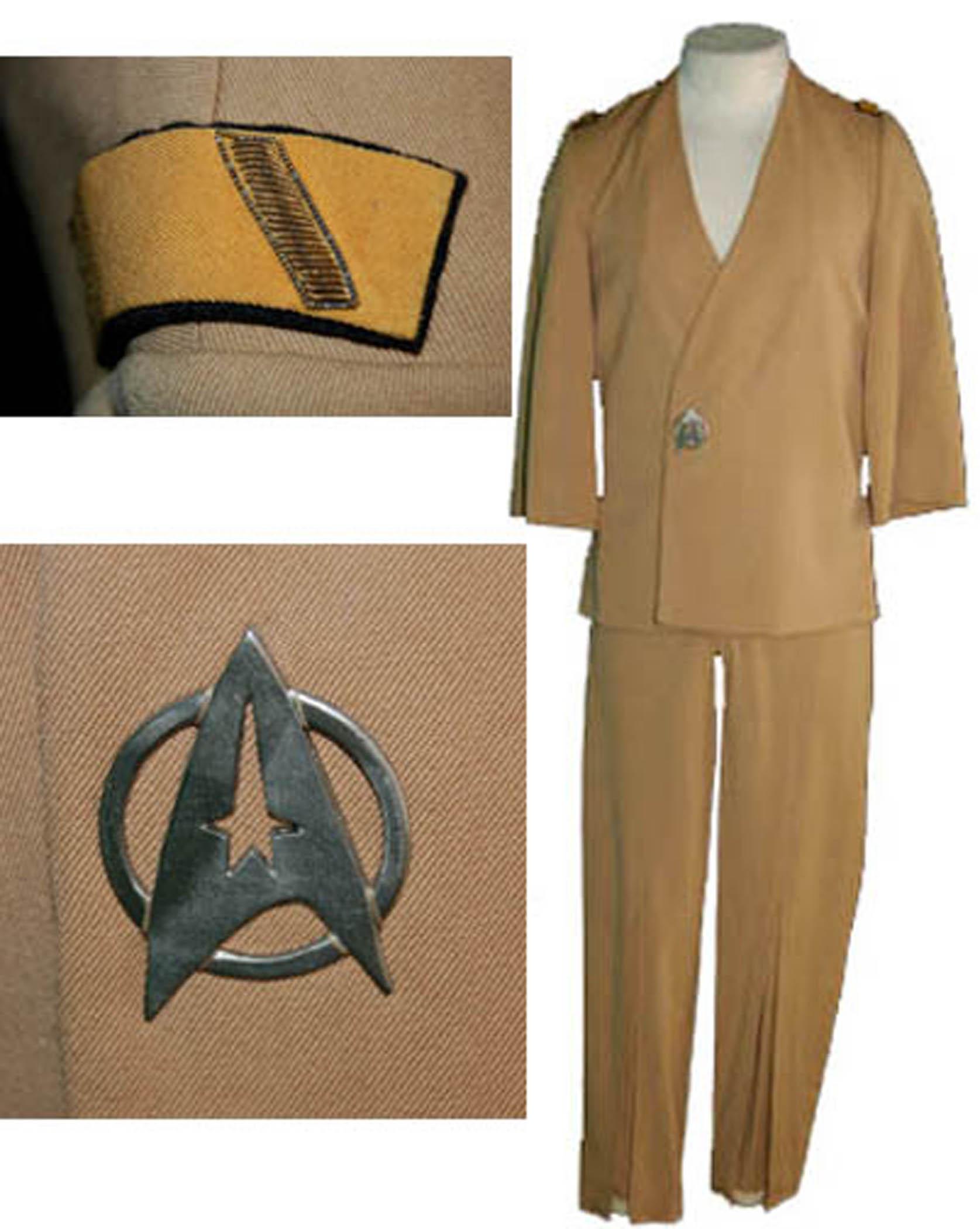 "Star Trek memorabilia auction Star Trek ""Sulu"" costume made for George Takei in ""Star Trek"