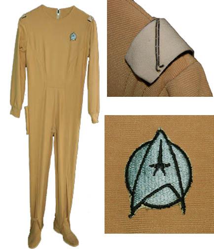 "Star Trek memorabilia auction Star Trek ""Chekov"" uniform created for Walter Koenig in ""Star Trek: The Motion Picture."""
