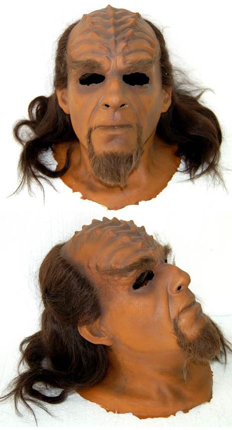 """Star Trek memorabilia auction Klingon head mask from the courtroom scene of """"Star Trek VI: Undiscovered Country."""""""