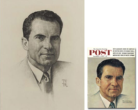 Norman Rockwell art auction Norman Rockwell Portrait of Nixon