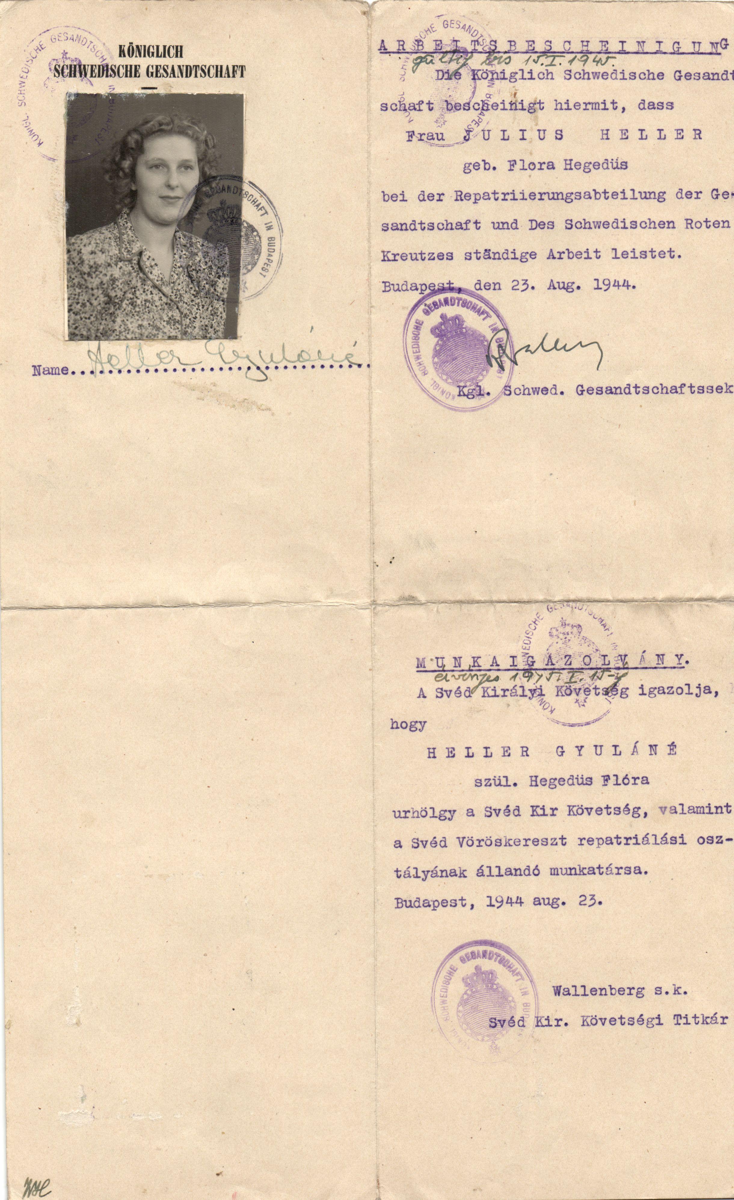 Raoul Wallenberg Autograph