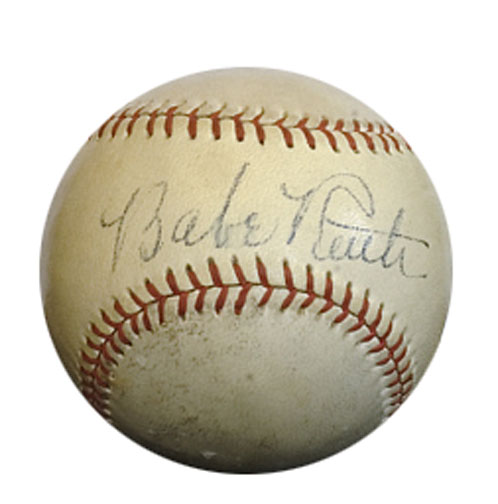 "Napoleon ""Larry"" Lajoie signed baseball Mel Ott autograph"