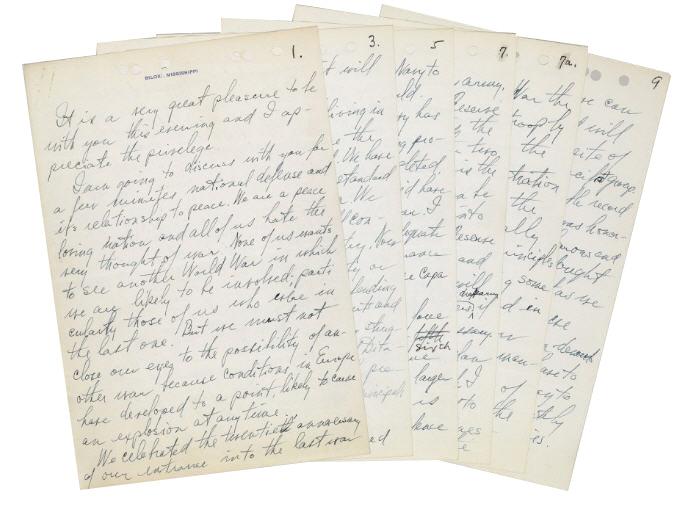 Harry Truman Memorabilia Harry S. Truman Speech Manuscript