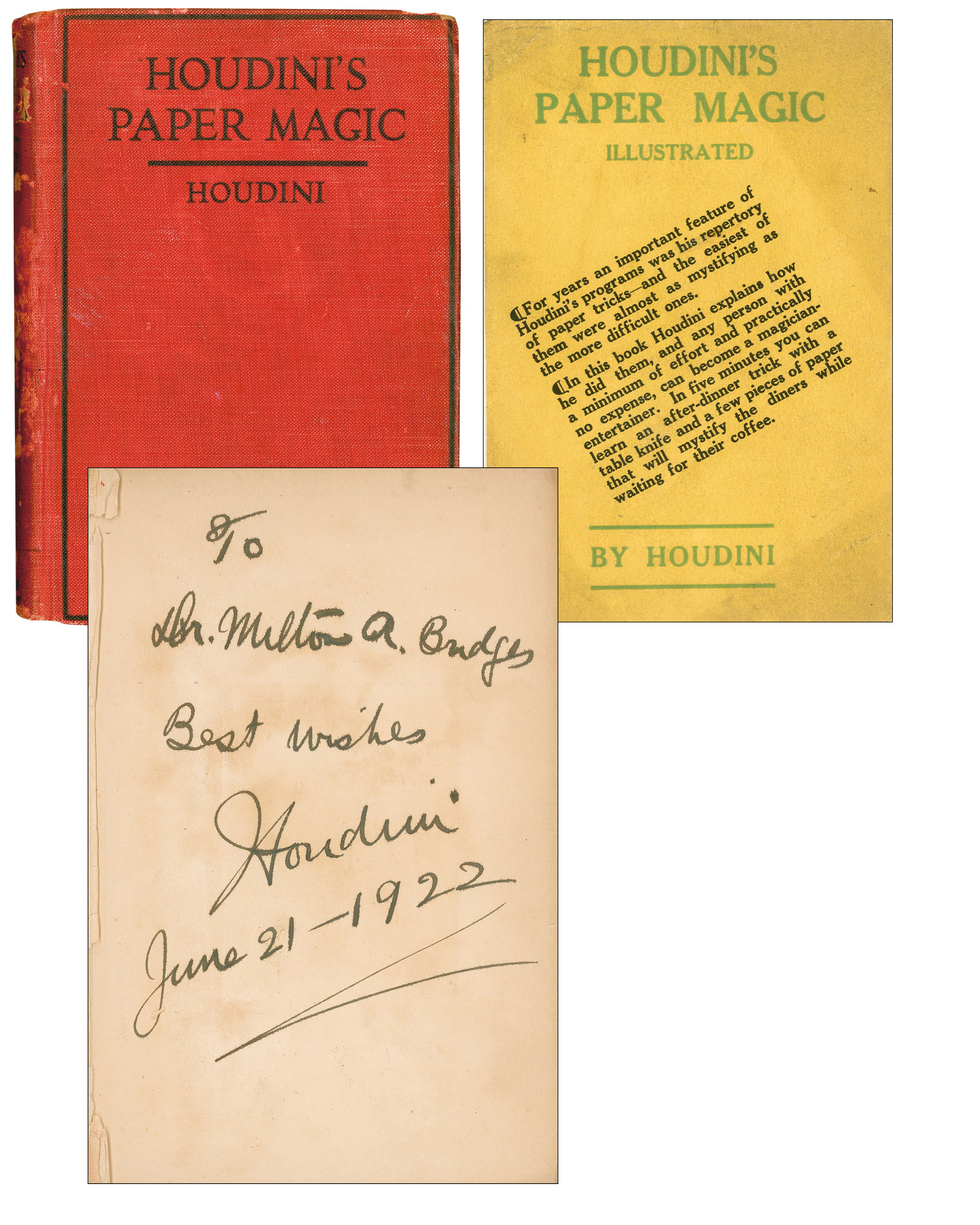 Harry Houdini autograph