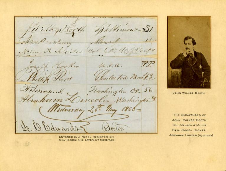 John Wilkes Booth autograph Scarce John Wilkes Booth Autograph 1863