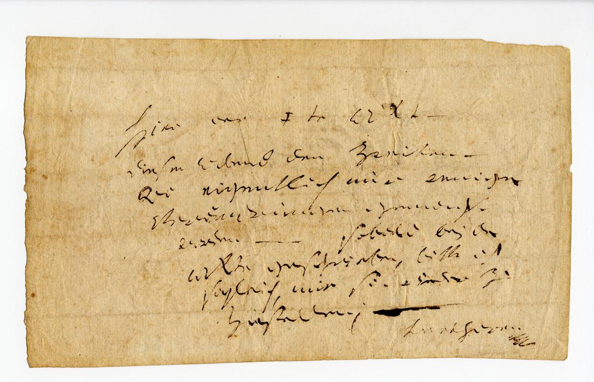 Ludwig van Beethoven autograph