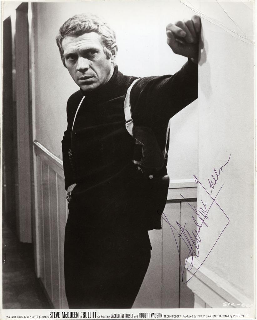 "Steve McQueen Autograph Iconic Steve McQueen Rare 8"" x 10"" Signed Photograph from ""Bullitt"""