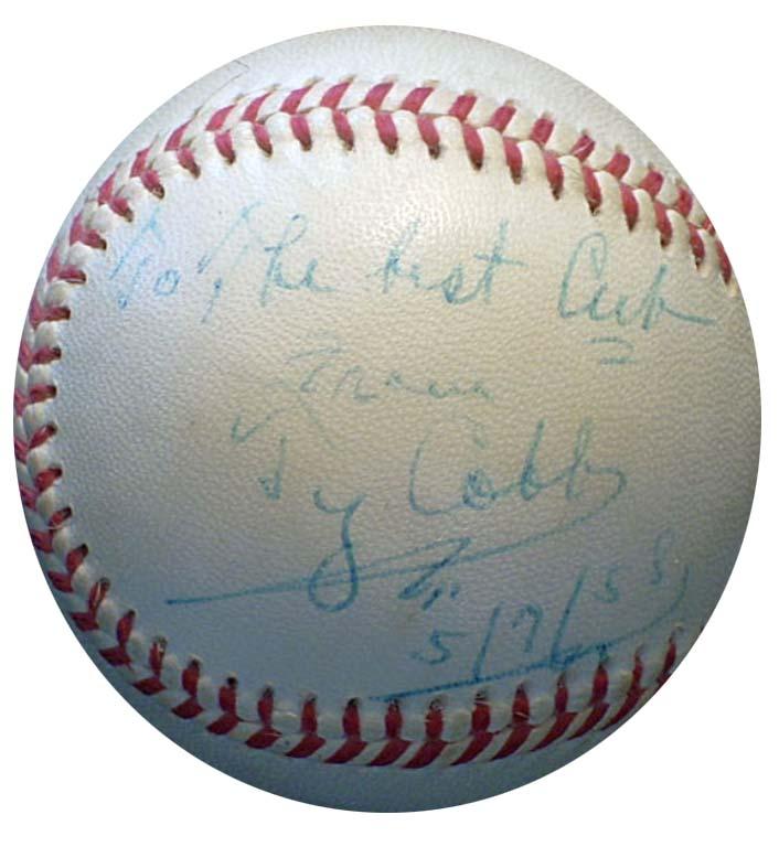 Ty Cobb Autograph