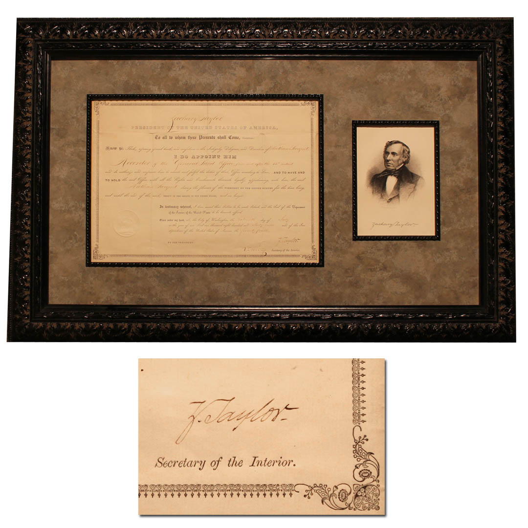 Zachary Taylor Autograph Zachary Taylor Document Signed as President -- 16 July 1849