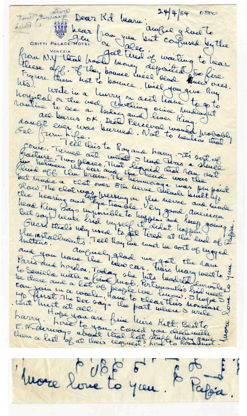 Ernest Hemingway Autograph