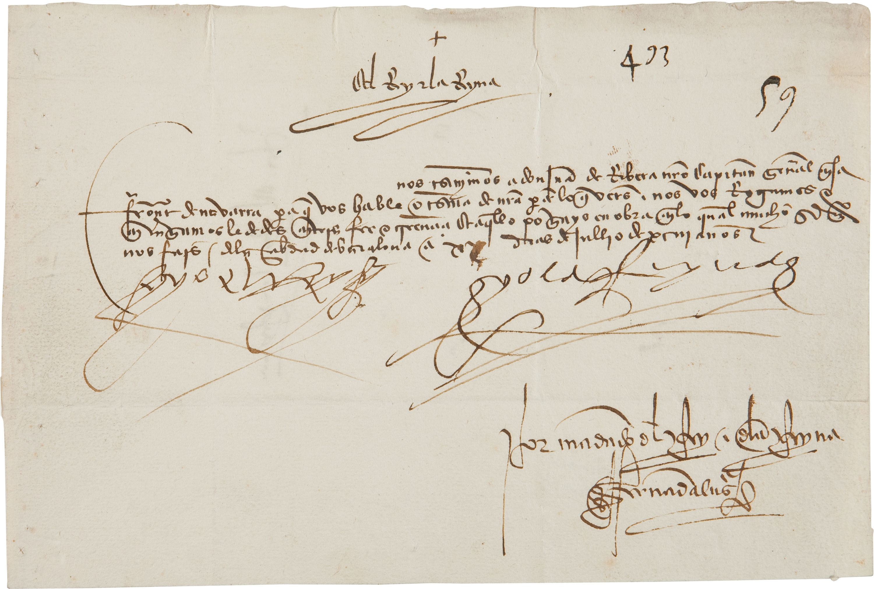 "Ferdinand and Isabella autograph King Ferdinand V and Queen Isabella I of Spain Document Signed ""Yo el Rey"" and ""Yo la Reina"""