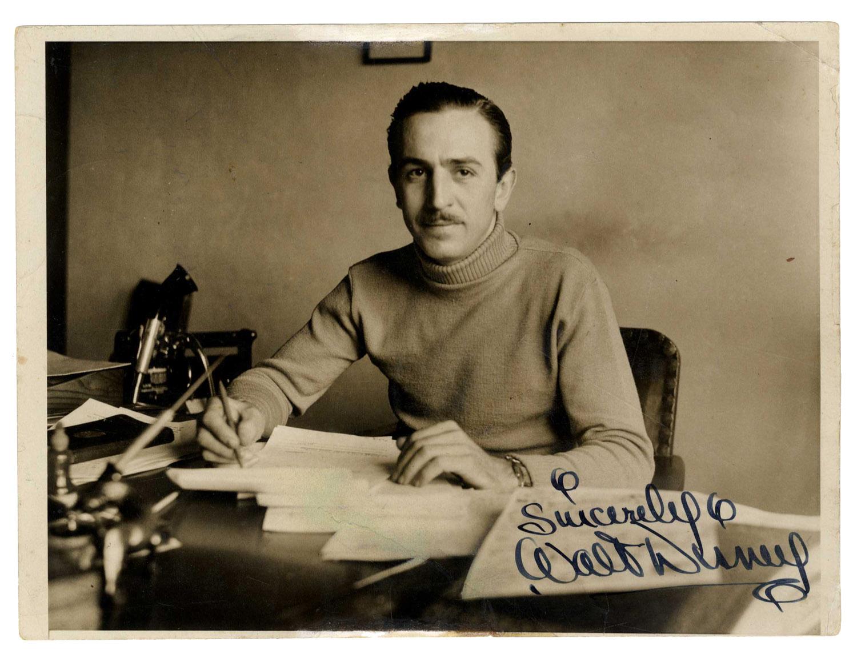 Walt Disney Autograph Exceptional Walt Disney 1933 Signed Photo