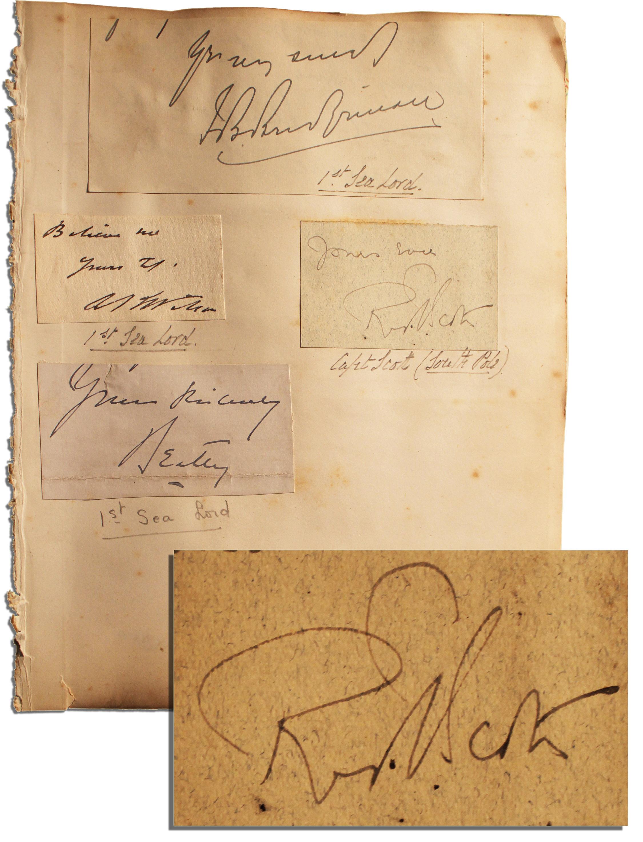 Robert Falcon Scott autograph