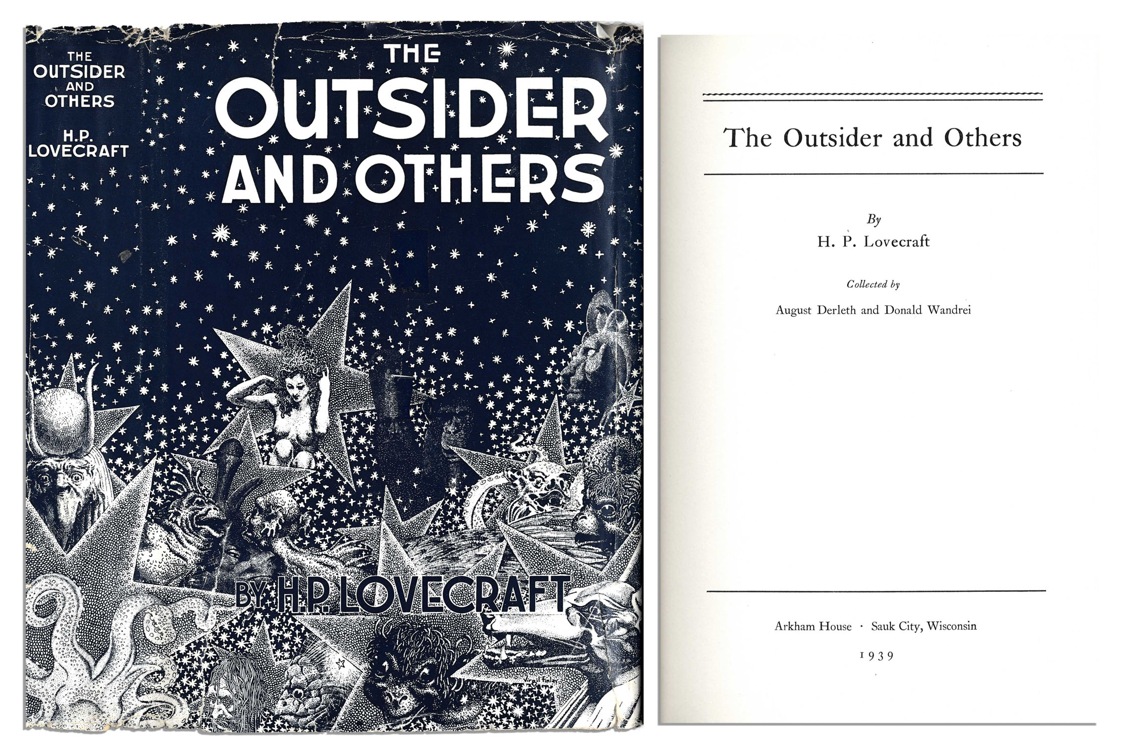"HP Lovecraft First Edition of ""The Outsider and Others"""