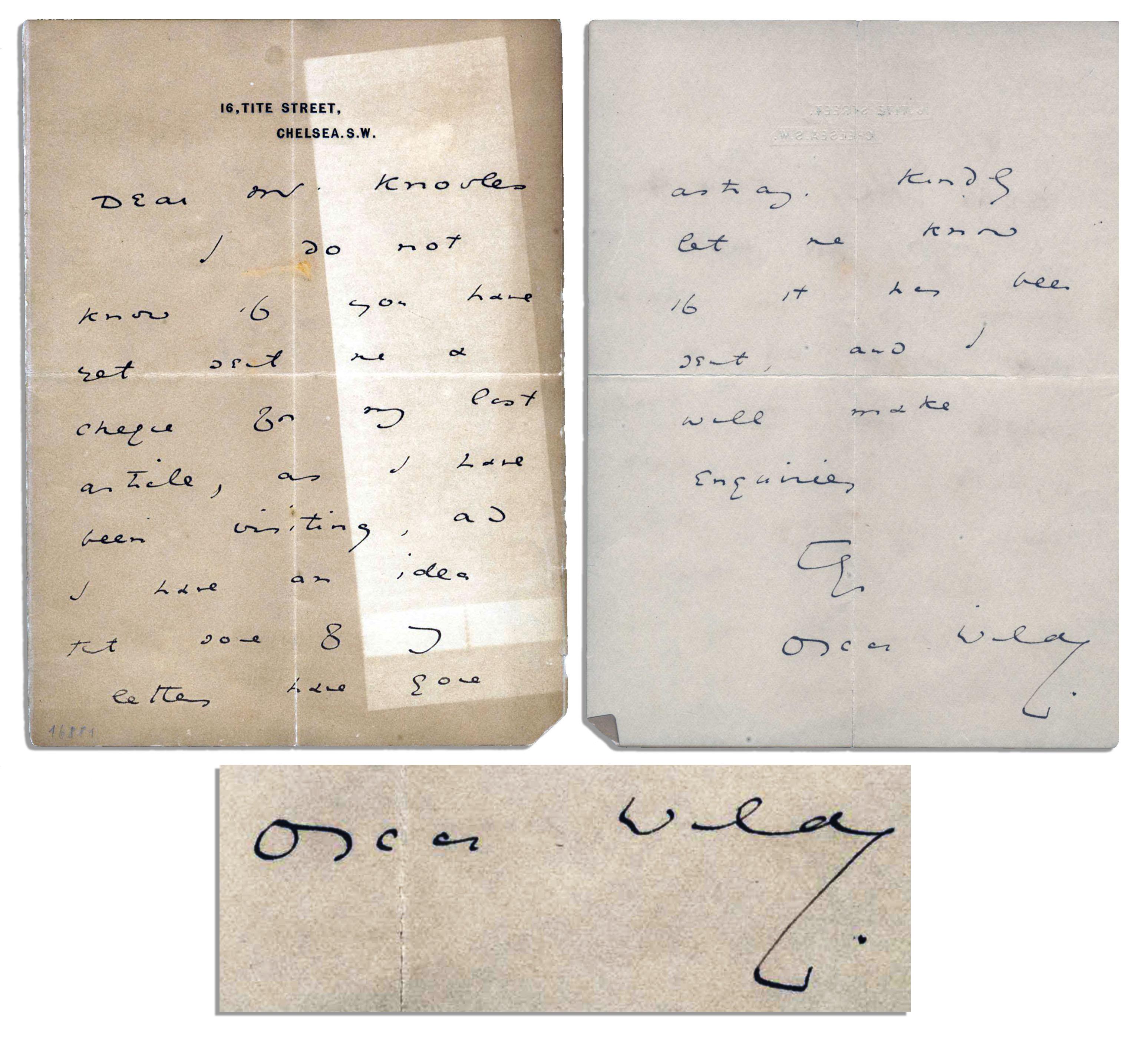 Oscar Wilde Autograph