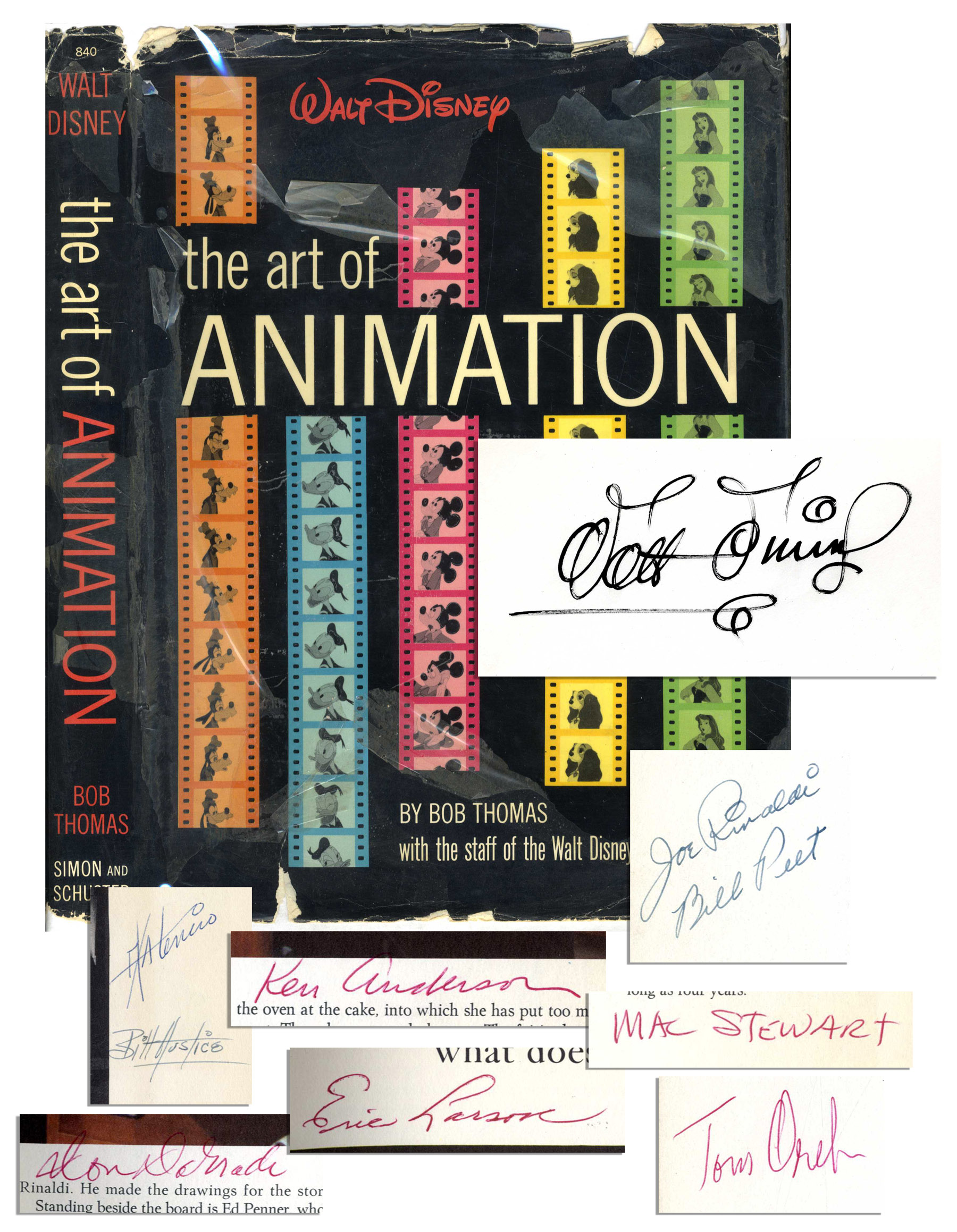 "Walt Disney Autograph Walt Disney ""Animation"" Signed Book"