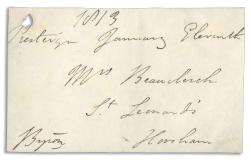 Lord Byron autograph