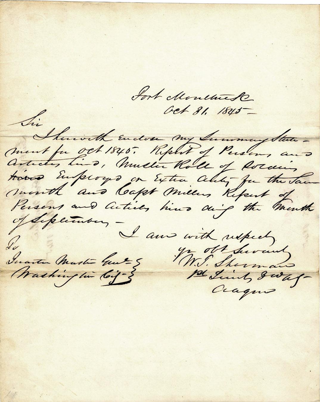 William Sherman Autograph