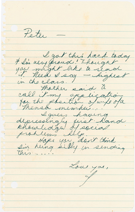 "Jimi Hendrix Autograph Rare Early Janis Joplin Letter to Her Boyfriend -- ""…I guess having depressingly first hand knowledge of social problems helps…"" -- 1965"