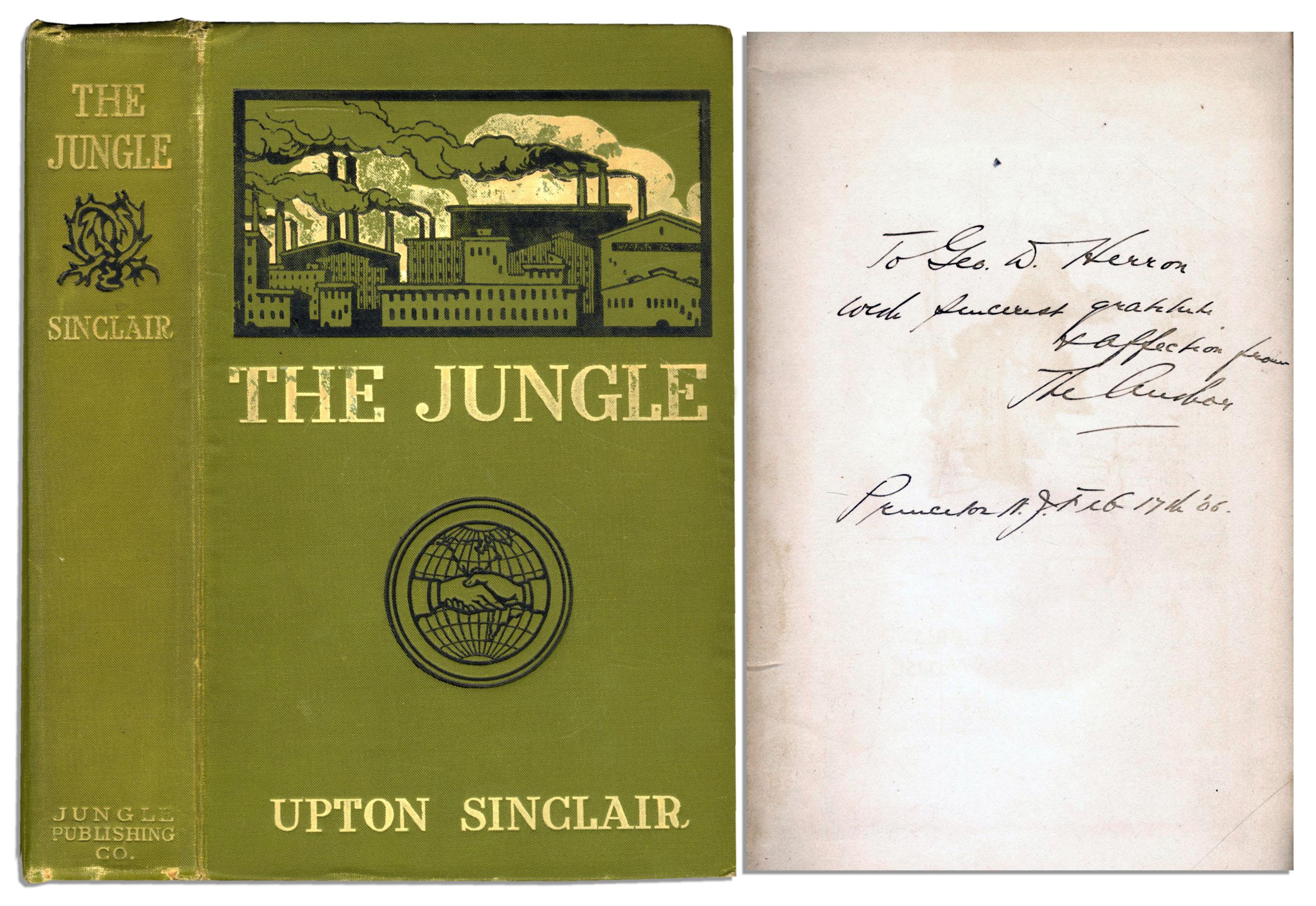Upton Sinclair Jungle 1st edition