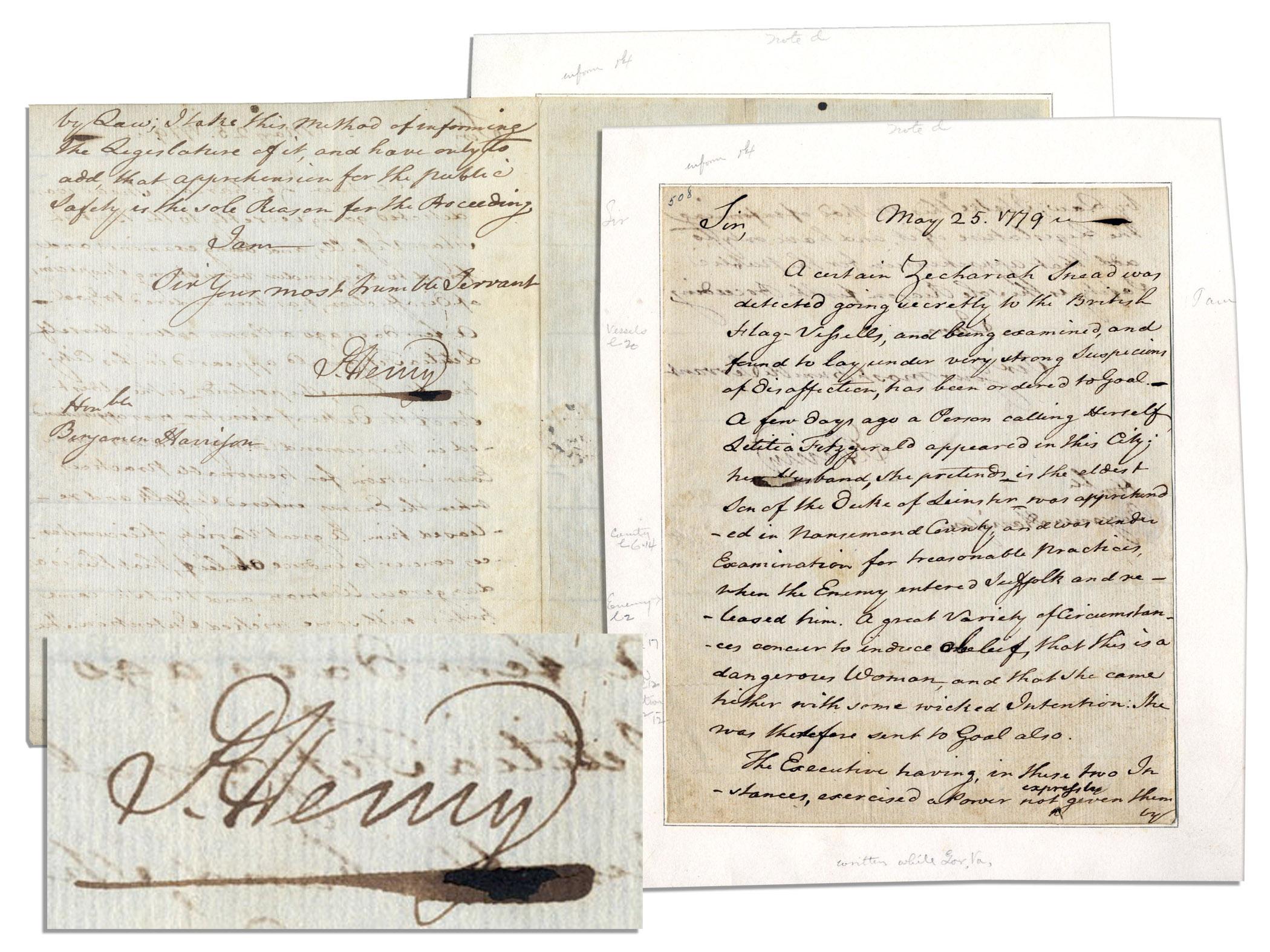 Patrick Henry Autograph