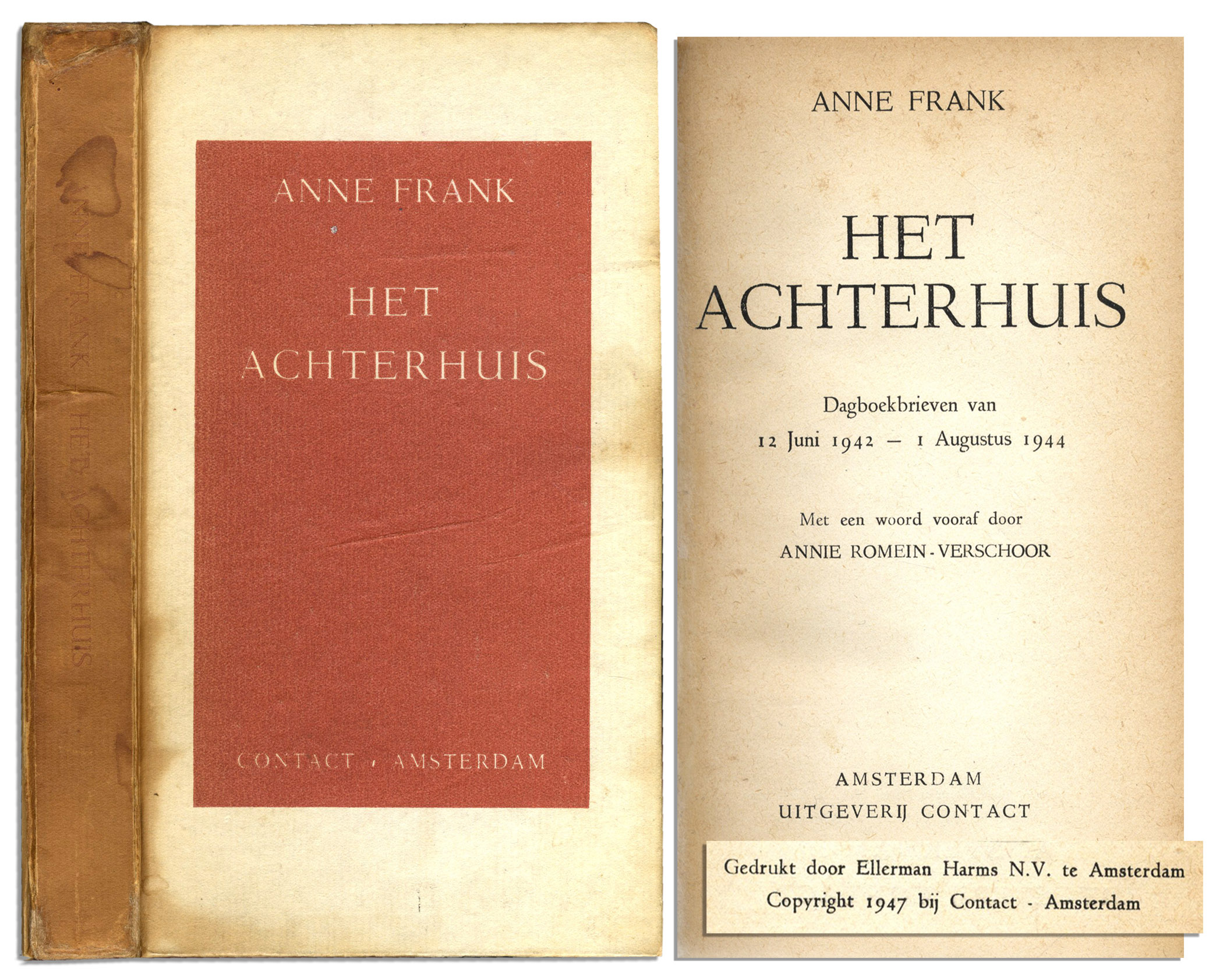 Anne Frank 1st edition book