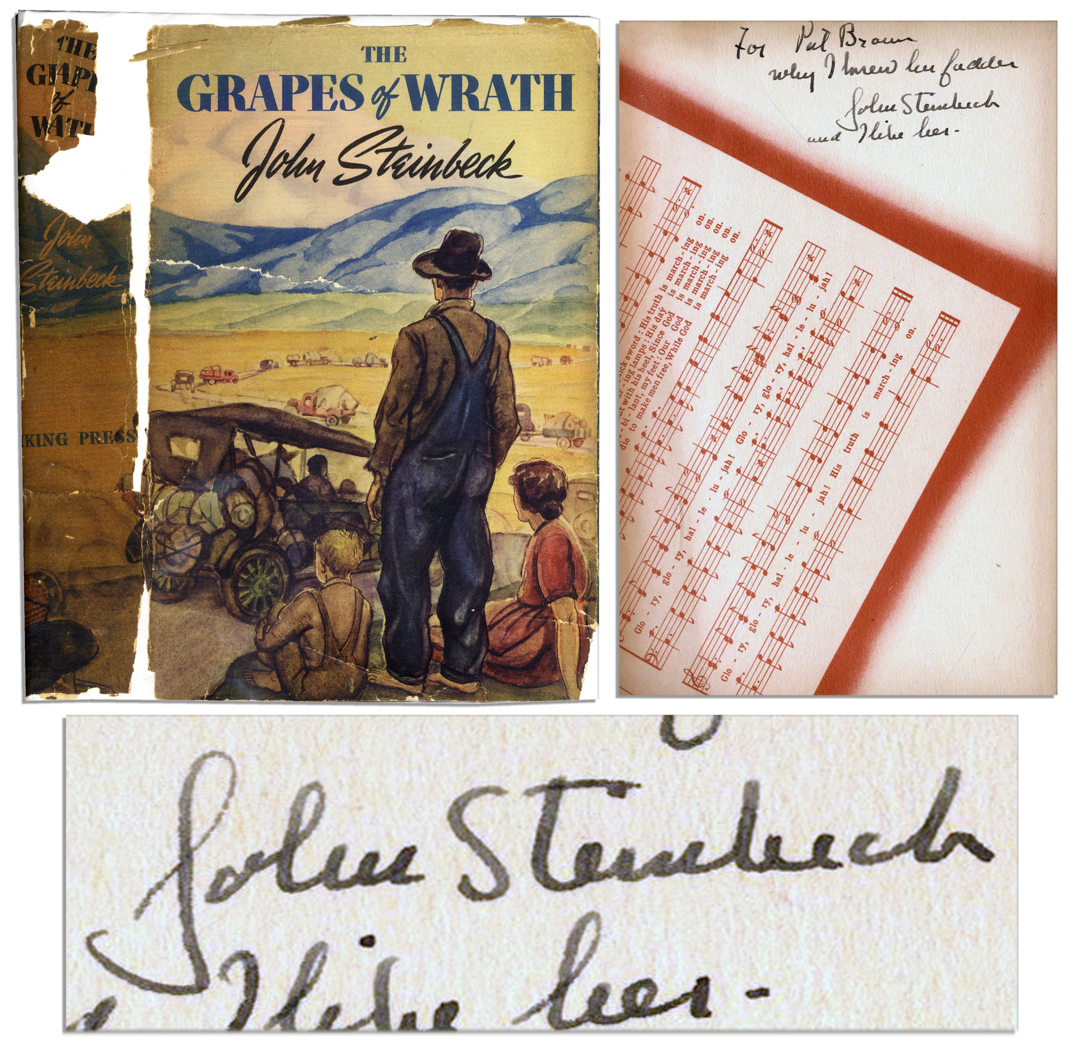 "John Steinbeck First Edition Signed of ""The Grapes of Wrath"""