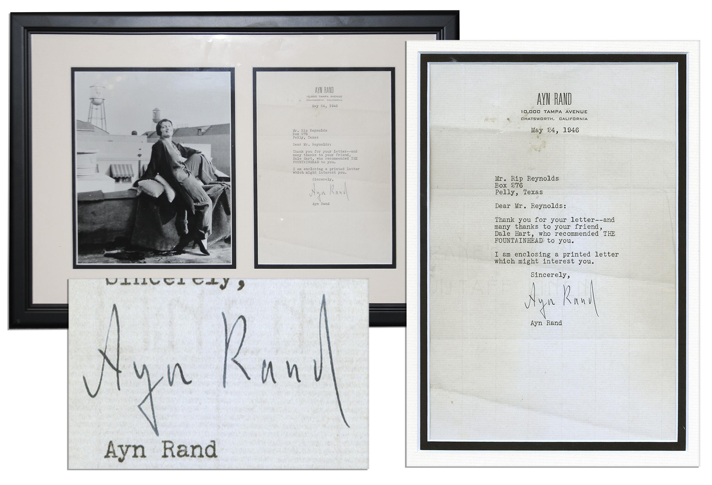Ayn Rand first edition Ayn Rand TLS