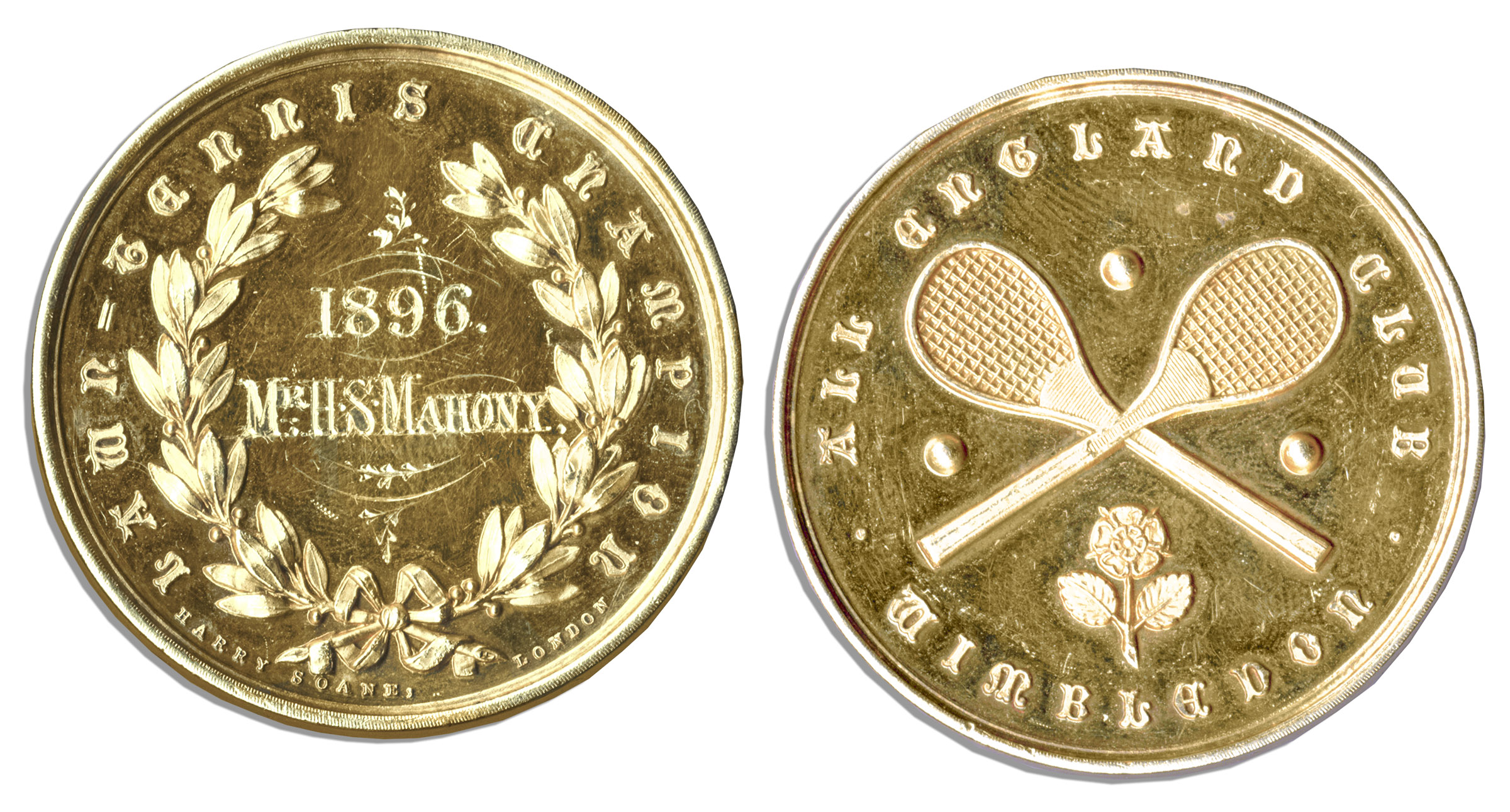 Wimbledon Medal Auction Wimbledon Championship Gold Medal Won by Early Tennis Great Harold Mahony in 1896