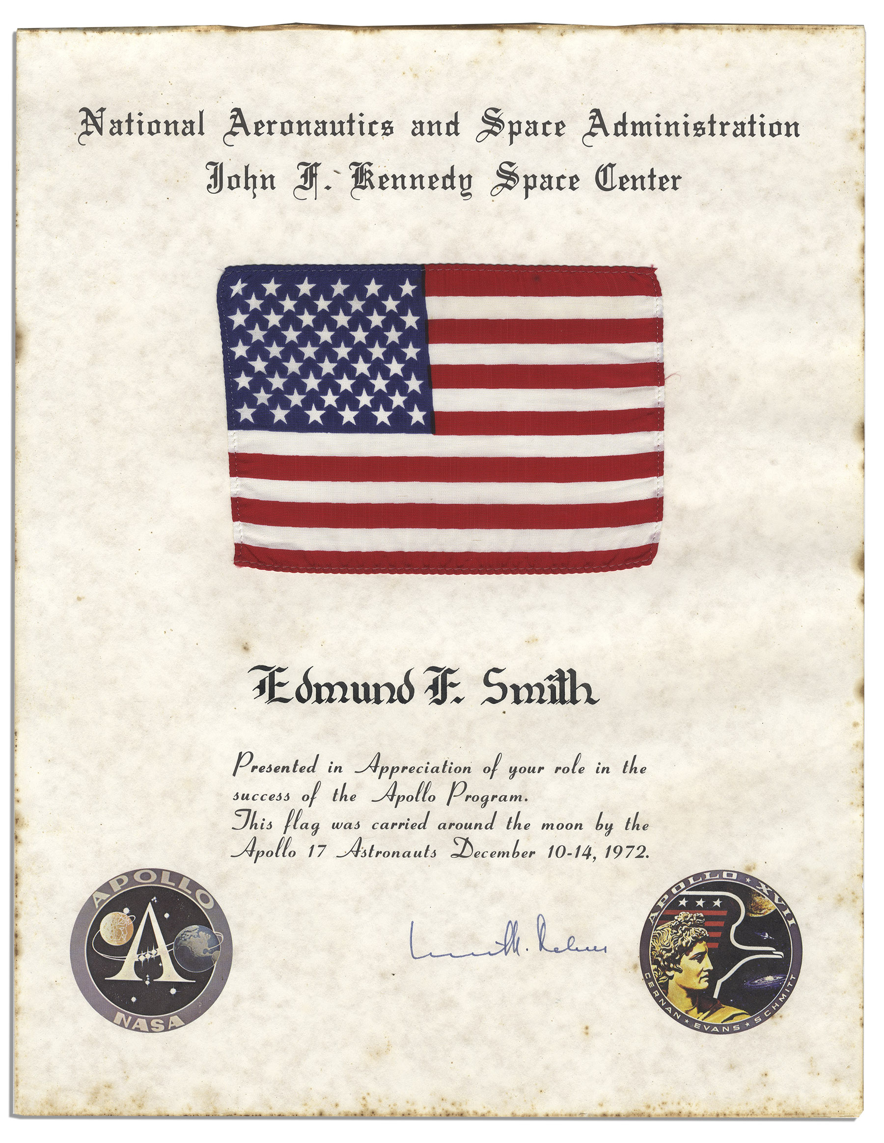 Apollo 17 Flown