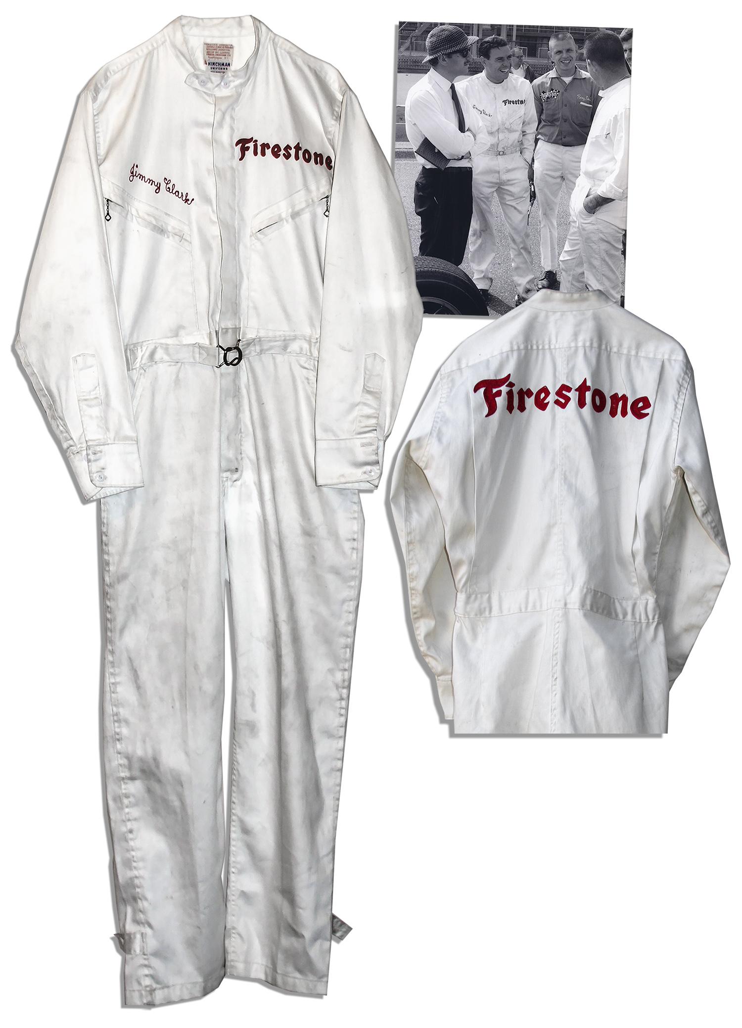 Jim Clark Worn Racing Suit