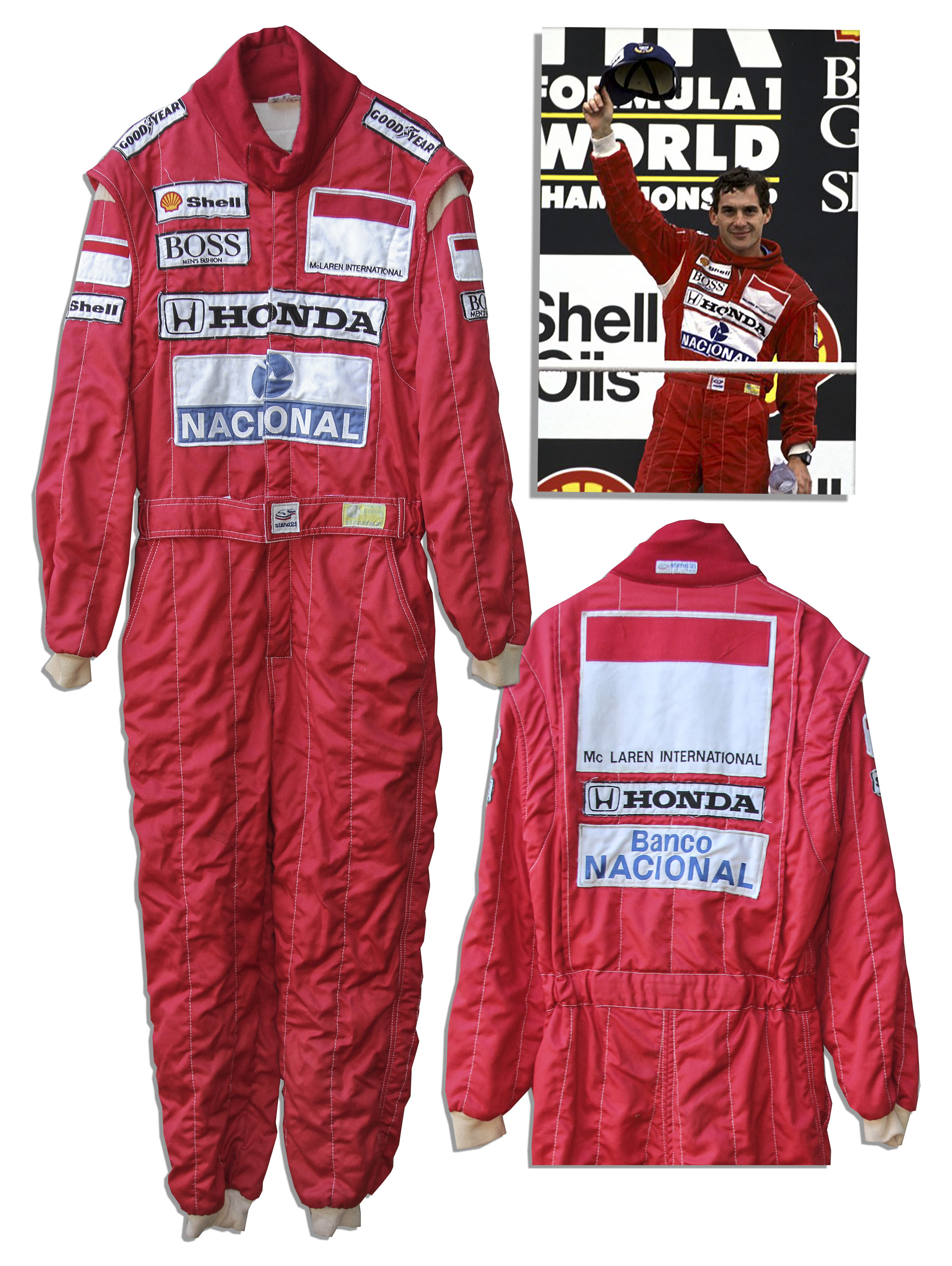 Ayrton Senna Worn Racing Suit
