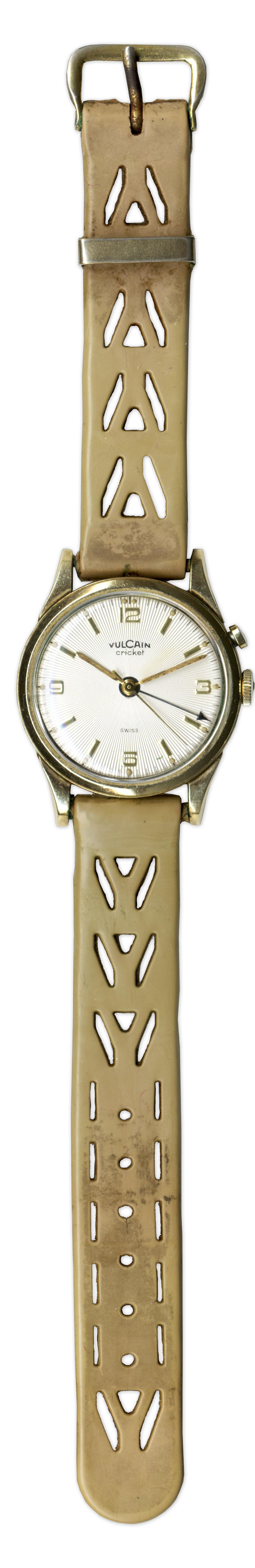 Harry Truman Memorabilia Vulcain Cricket Watch From the Estate of President Harry S. Truman