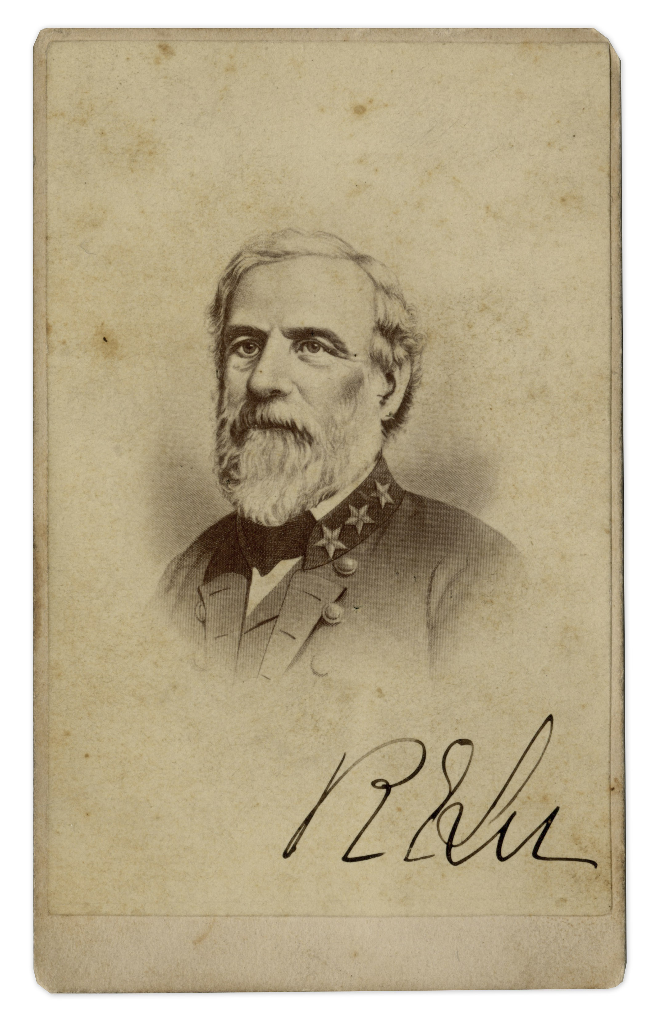Robert E. Lee autograph General Robert E. Lee Signed CDV