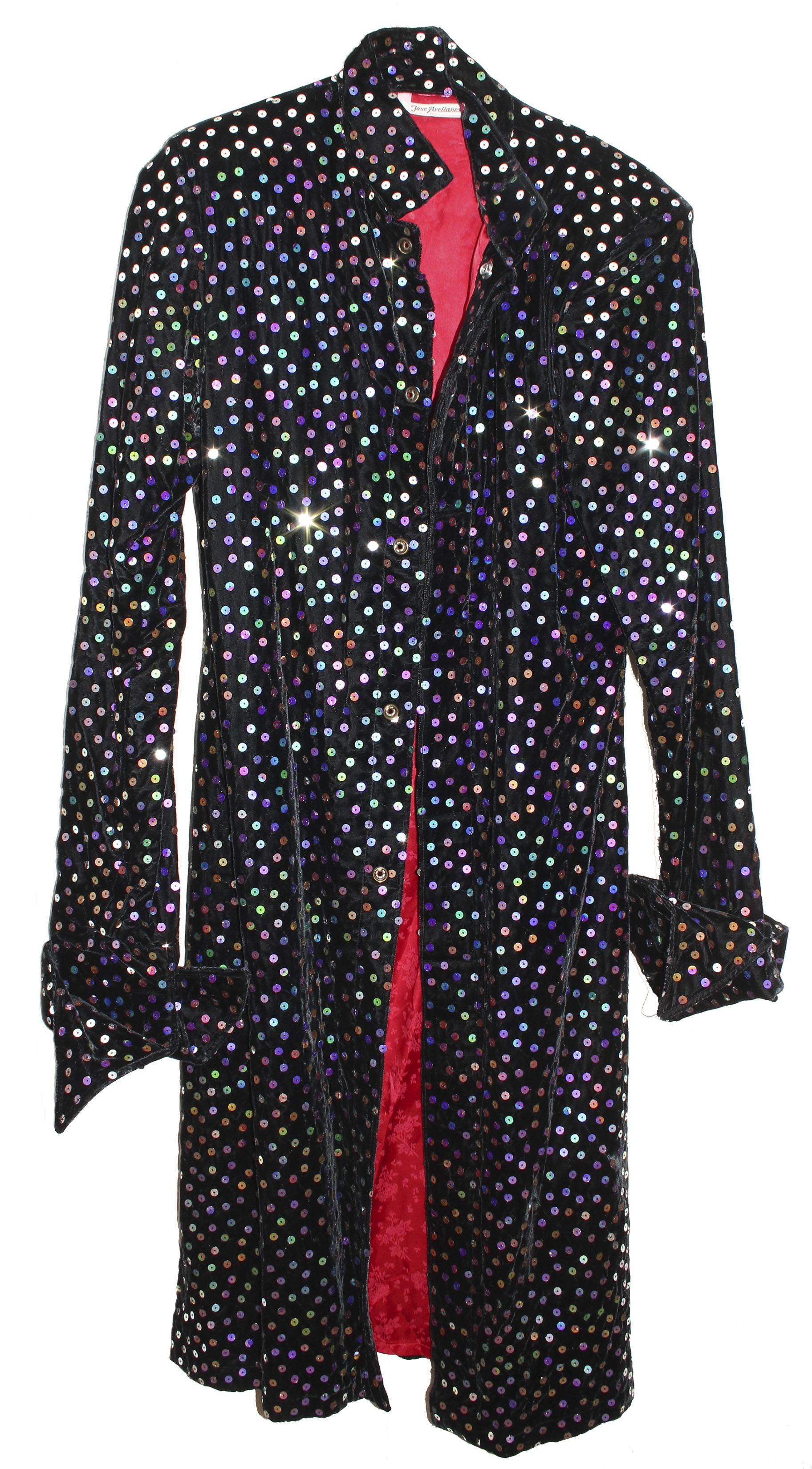 Prince worn jacket Prince Worn Velvet Sequined Stage Jacket