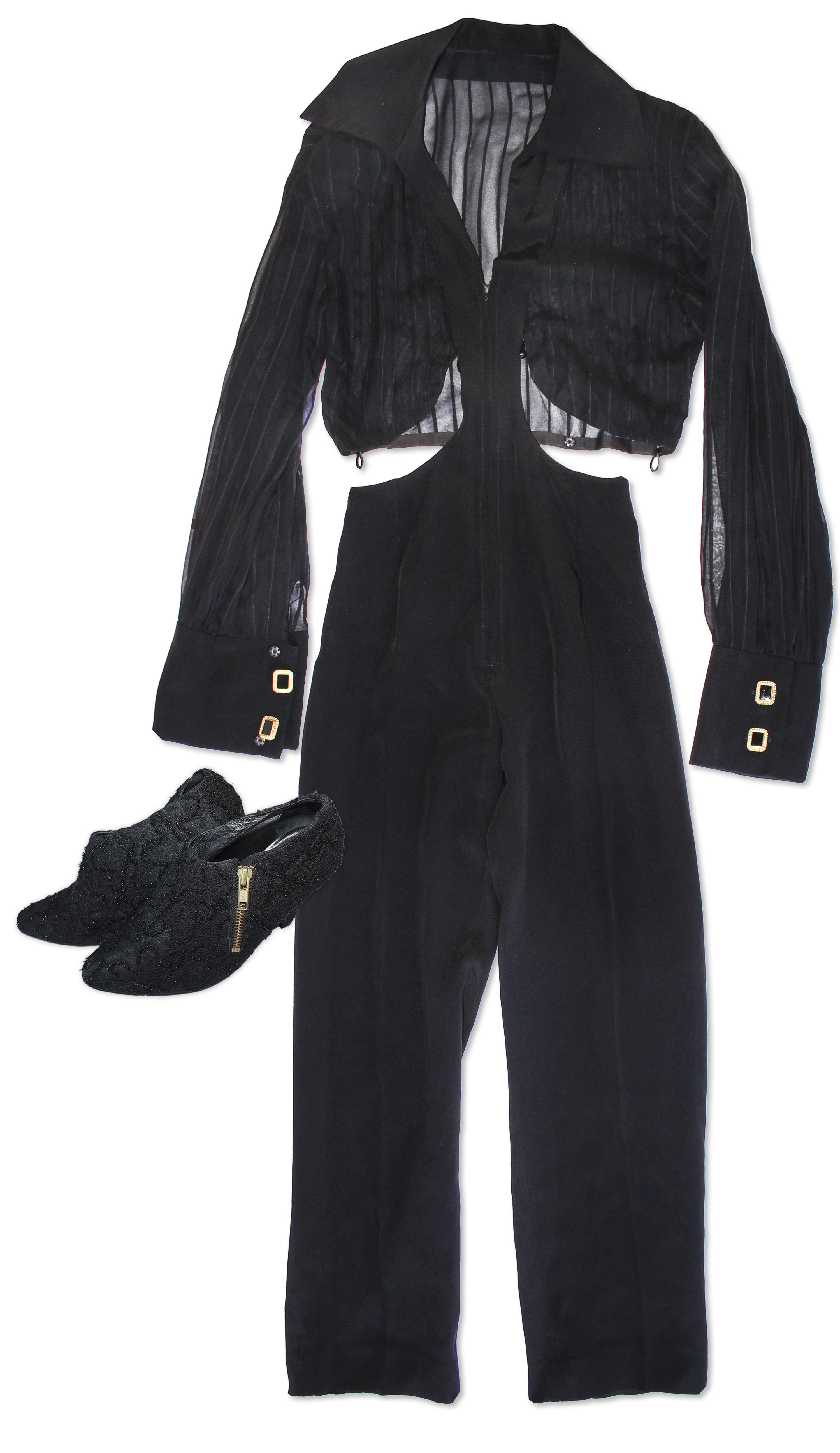 Prince worn jacket Prince Worn Black Bodysuit & Black Shoes