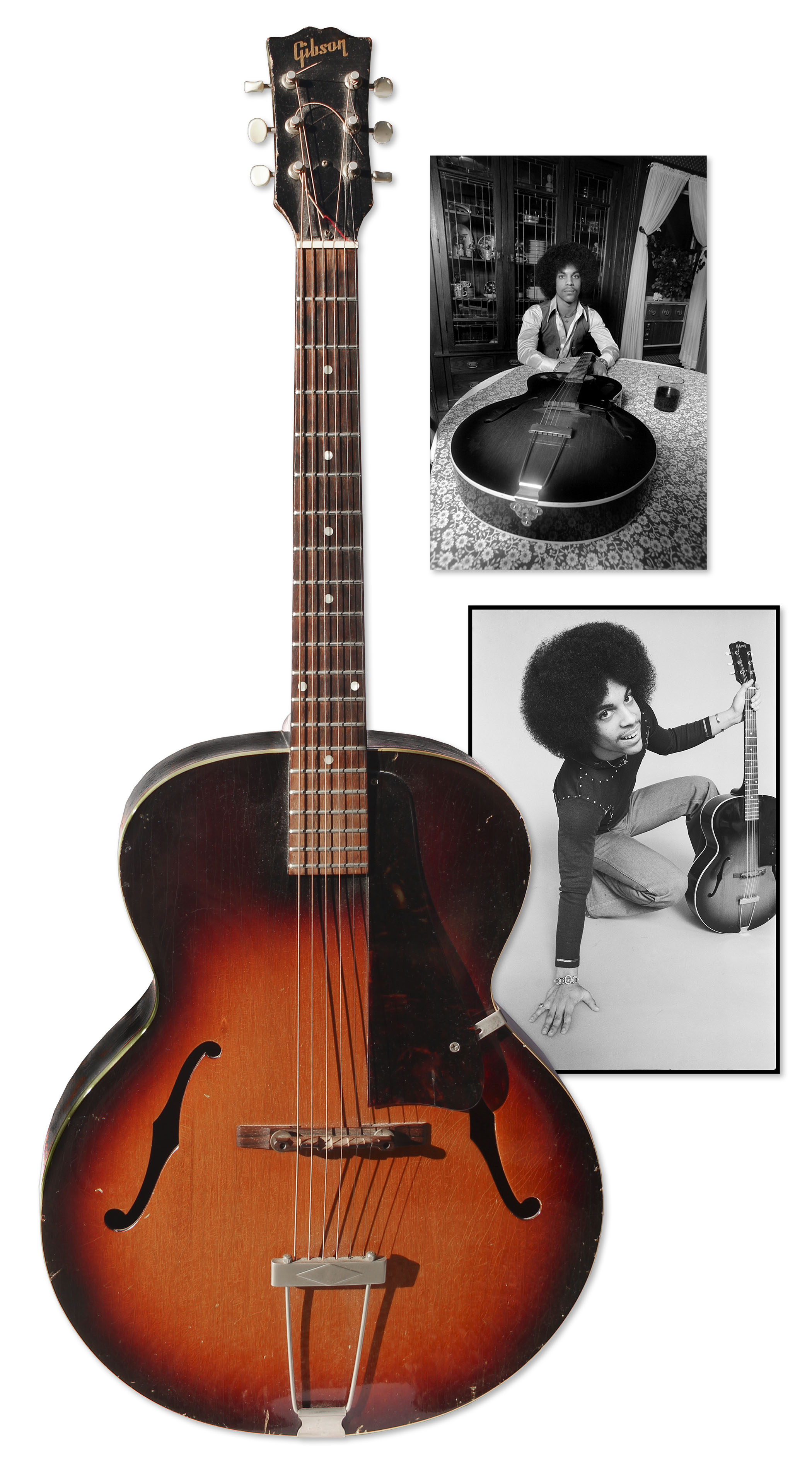Prince Guitar 1959 Gibson Guitar Used by Prince to Compose & Record Early Demo Tracks -- Prince Was Famously Photographed With the Favorite Guitar in Early Promotions