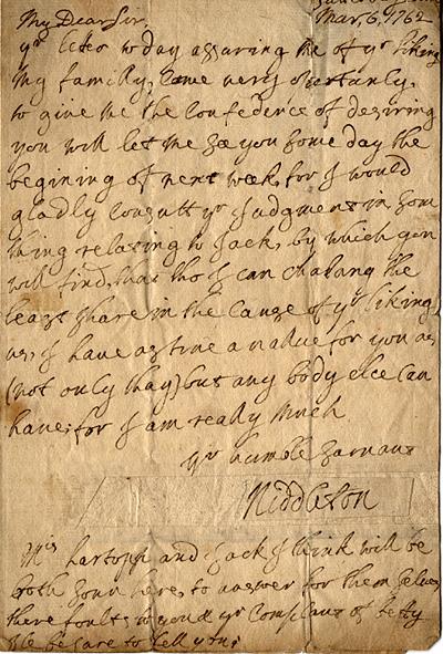 Arthur Middleton autograph