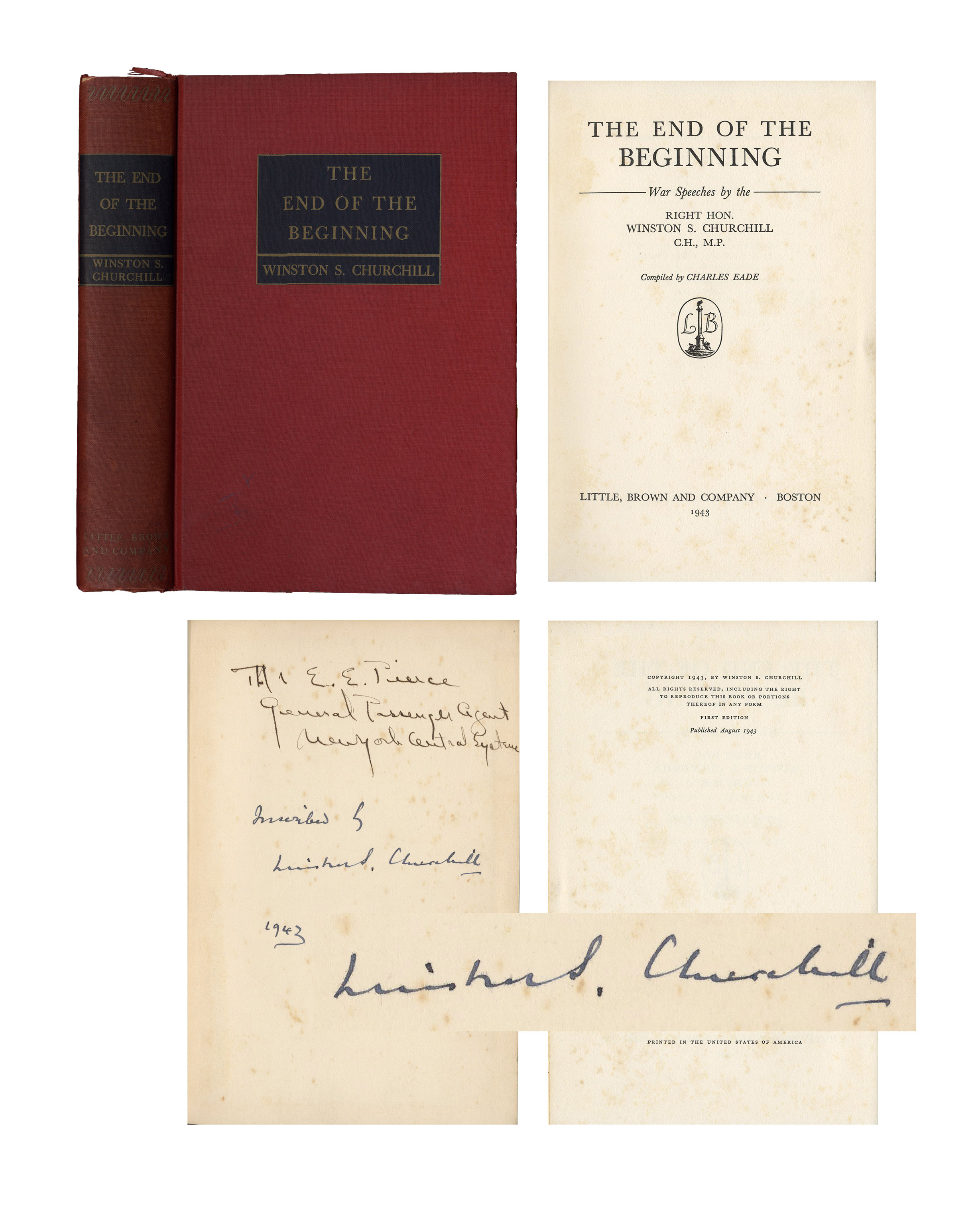 Winston Churchill End of the beginning signed